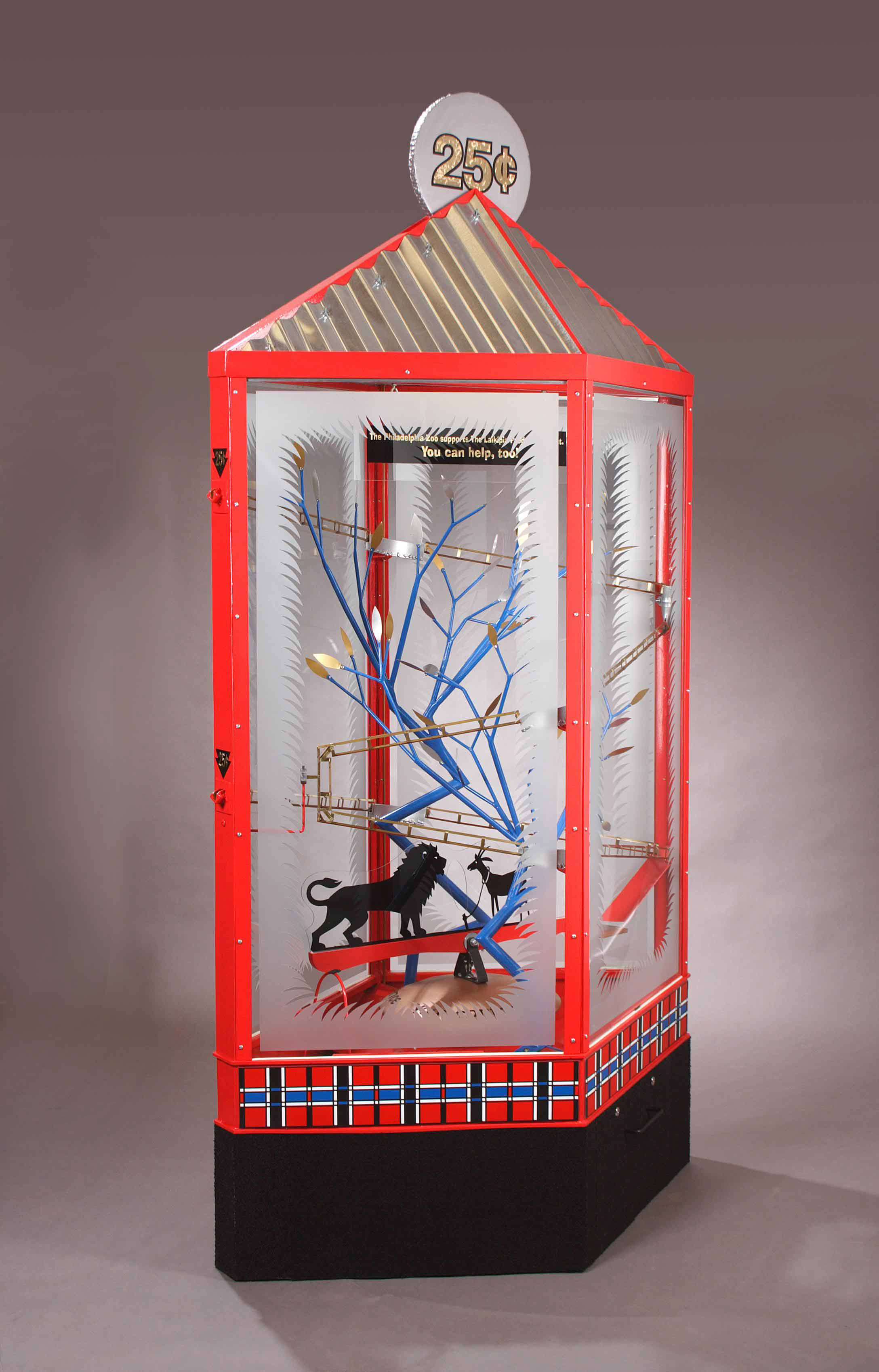 "Kinetic sculpture, ""Quarters for Cats"" by Henry Loustau"